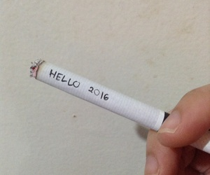 cigarettes, hello, and new year image