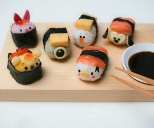 food, sushi, and disney image