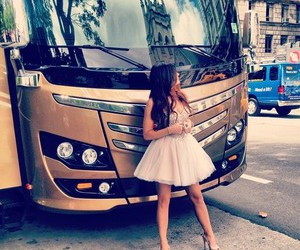 girl, kylie jenner, and bus image