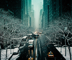 photography, winter, and city image