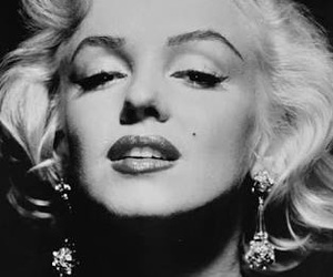 black and white and monroe image