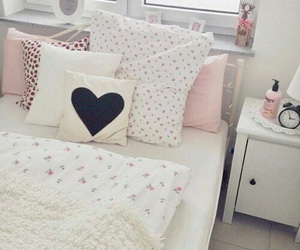 bedroom, heart, and room image