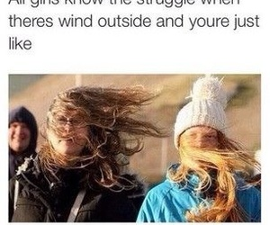 hair, funny, and wind image