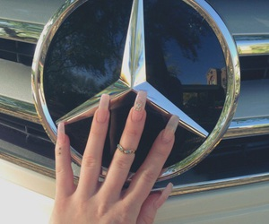 nails, girl, and mercedes image