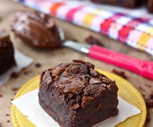 brownie, chocolate, and food image