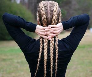 braid, beauty, and girls image
