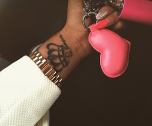 tattoo and pink image