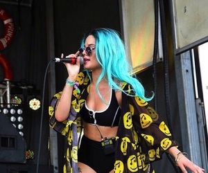 halsey, blue hair, and music image
