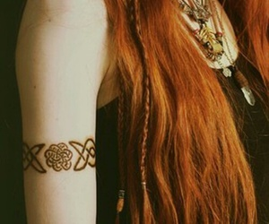 redhead and tattoo image