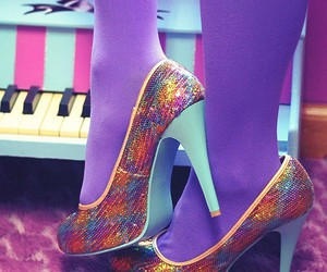 heels, piano, and pink image