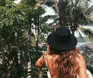 summer, hair, and travel image