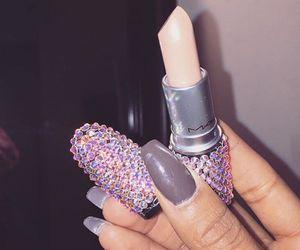 mac, lipstick, and nails image