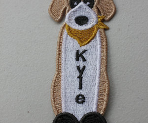 doggie, embroidery, and puppy dog image
