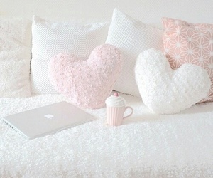 pink, room, and white image