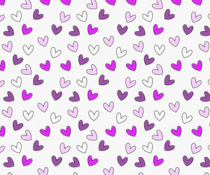 wallpaper, hearts, and purple image