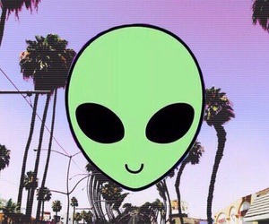 alien, hipster, and palmas image