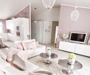 home, white, and pink image