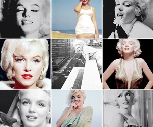 Collage, Marilyn Monroe, and norma jeane image