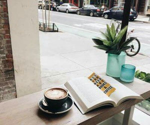 book, cafe, and city image