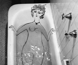 black and white, photography, and saul steinberg image
