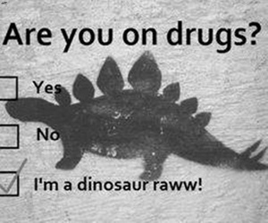 drugs, dinosaur, and funny image