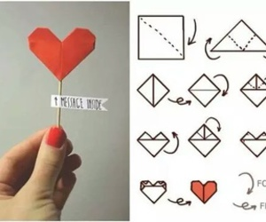 heart, diy, and origami image