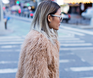 chic, fashion, and faux fur image