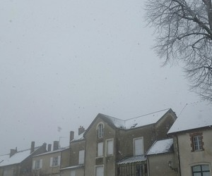 beautiful, france, and snow image