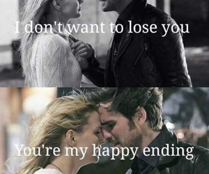 emma swan, once upon a time, and captain hook image