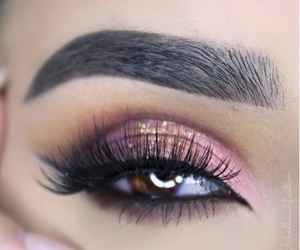 makeup, lashes, and brows image