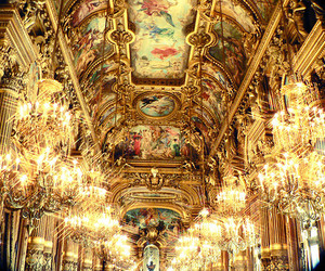 architecture, baroque, and chandelier image