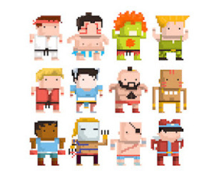 chibi, pixel, and street fighter image