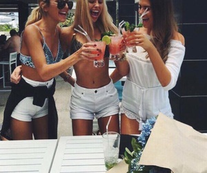 drink, friends, and friendship image