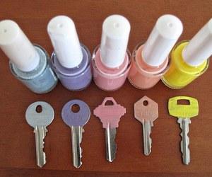 key, diy, and nail polish image