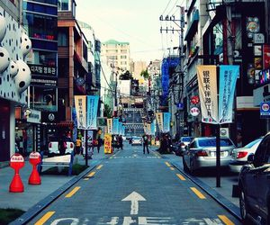 korea, street, and asia image