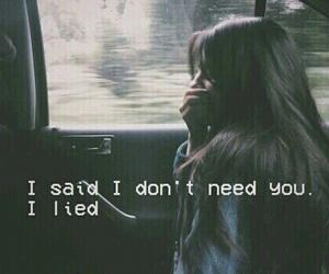 quotes, sad, and lies image