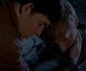 arthur, colin morgan, and merlin image