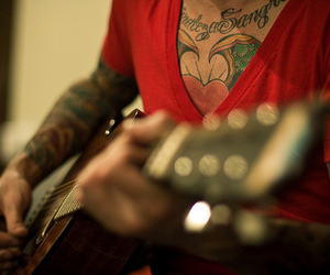 tattoo, guitar, and boy image
