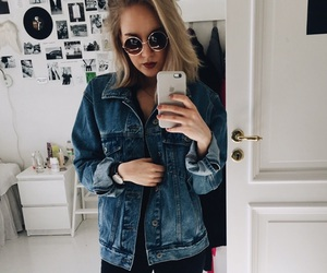 clothes, glasses, and jeans image