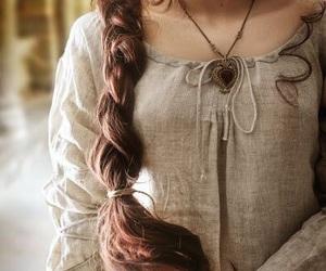medieval, braid, and hair image
