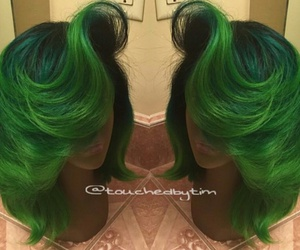 green wigs and short green wigs image