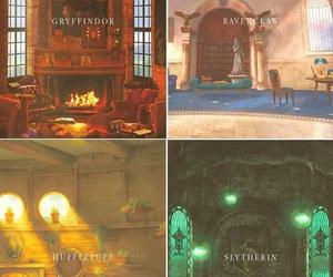slytherin, harry potter, and gryffindor image