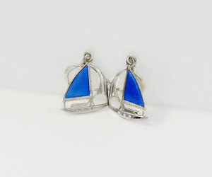 blue and silver, etsy, and gift for her image