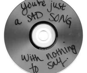 sad, cd, and song image