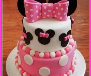 cake, disney, and pink image