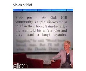 funny, thief, and lol image