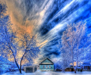 blue, house, and inverno image