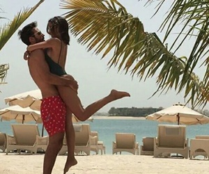 beach, holiday, and couple image