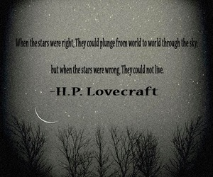 HP Lovecraft, stars, and quote image