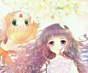 fan art, anime girls, and flowers image